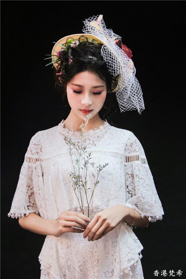玫瑰花新娘造型3